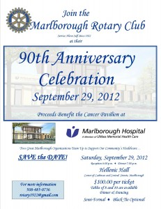 Save the Date - September 29, 2012