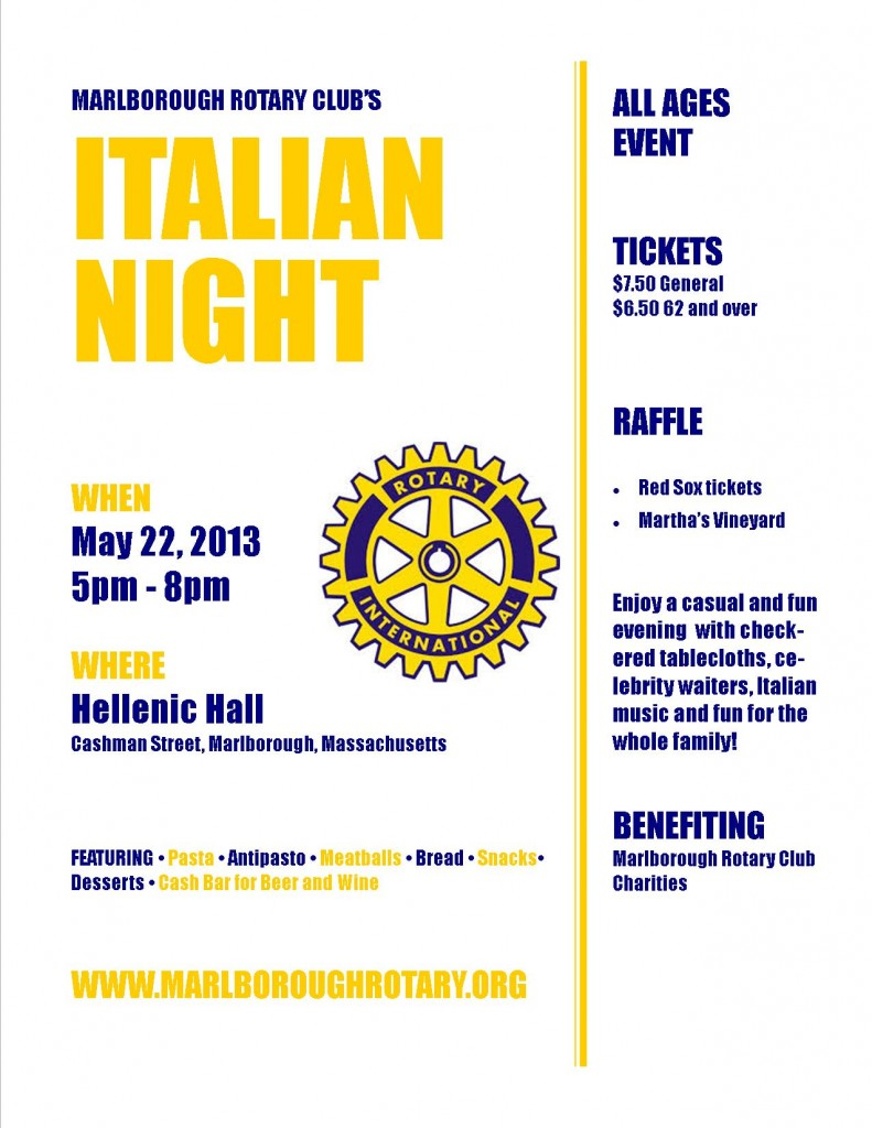 Italian Night! Hellenic Hall