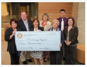 Marlborough Rotary - Marlborough Hospital Donation to Cancer Pavilion