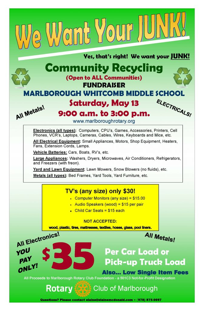 Rotary Club of Marlborough community recycling event