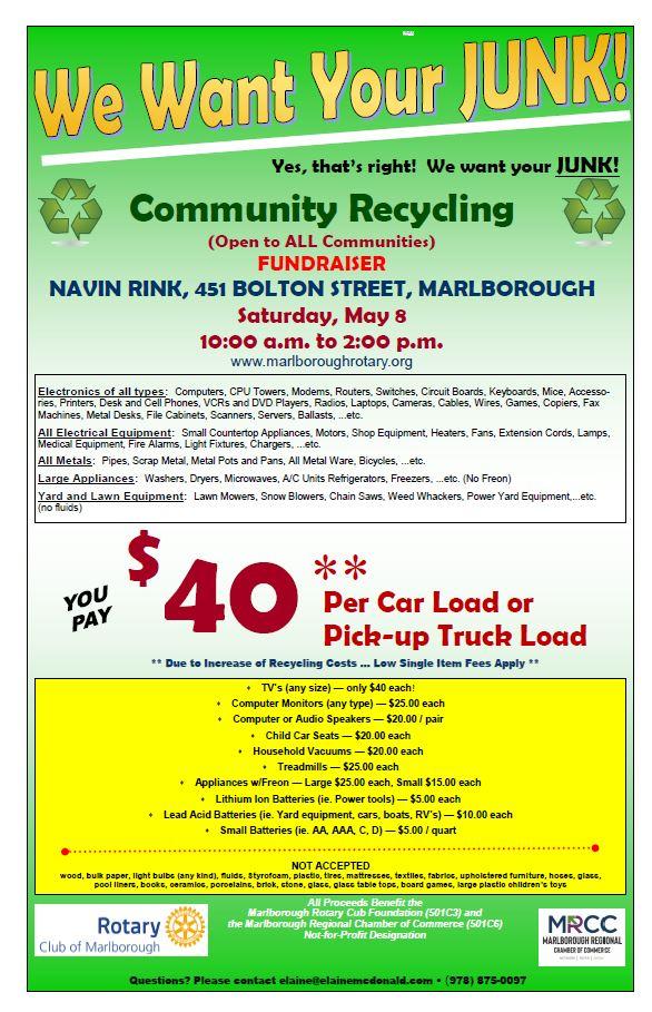 Marlborough Rotary - Chamber Recycling Event